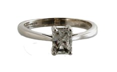 67404 - Jubilee Radiant Princess Engagement ring in 18ct White Gold