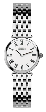 67463 - Michel Herbelin Small sized Ultra Slimline Stainless Steel Bracelet Watch