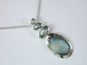 67517 - Sterling Silver Shoreline Pebble Pendant on silver chain