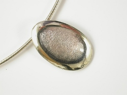 67518 - Sterling Silver Shoreline Pebble Pendant on silver cable