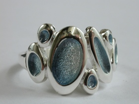 67521 - Sterling Silver Shoreline Pebble Ring in Sterling Silver