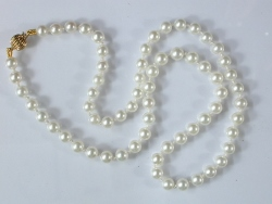 67724 - White Akoya Cultured Pearls on 9ct safety clasp