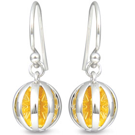 63047 - Sphere of Life 'Good Morning Sunshine' earrings in Sterling Silver