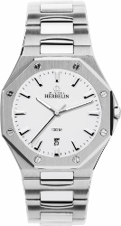 67946 - Michel Herbelin Large sized Steel Odyssey Bracelet Watch on Bracelet