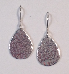 68038 - Handmade Sterling Silver Pear shape Drop Earrings