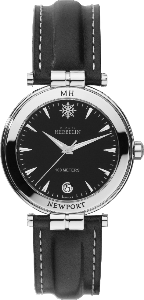 68112 - Michel Herbelin Gent's sized Newport Watch on strap