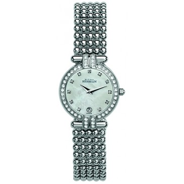68121 - Michel Herbelin Womens Stainless Steel Perle Bracelet Watch