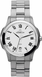 68127 - Michel Herbelin Large sized Ambassador Steel Bracelet Watch