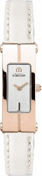 68131 - Michel Herbelin Lady's Rose Gold Plated Lingot Watch with Leather Strap