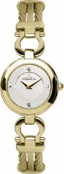 68134 - Michel Herbelin Small sized Gold Plated Cable Watch