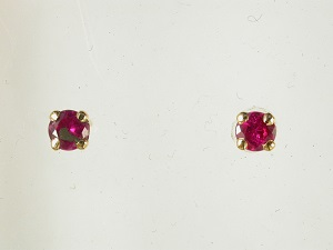 68166 - Ruby Earrings set in 18ct Yellow Gold