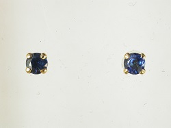 68167 - Sapphire Earrings set in 18ct Yellow Gold