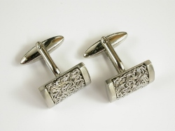 68201 - Steel Mesh Cufflinks in Steel