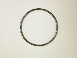 68248 - Handmade Medium sized Bangle in Oxidised Sterling Silver with Hammered Finish