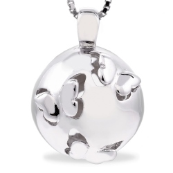 60132 - Sphere of Life 'Butterflies' Pendant in Sterling Silver