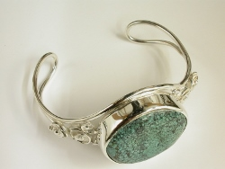 68280 - Turquoise Bangle in Sterling Silver