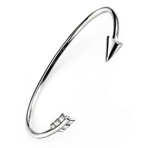 68298 - 'Cupid's Arrow' open torq Bangle in Sterling Silver