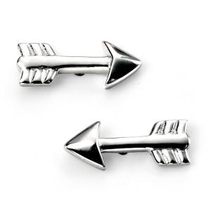 68313 - Cupid's Arrow Stud  Earrings in Sterling Silver