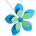 68335 - Titanium Flower pendant on silver chain