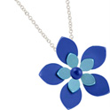 68337 - Titanium Flower pendant on silver chain