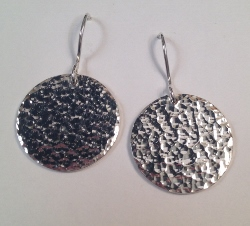 68363 - Handmade Sterling Silver Coin shape Drop Earrings
