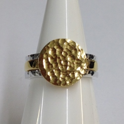 68434 - Handmade  18ct Vermeil & Silver 3 piece Ring set in Sterling Silver