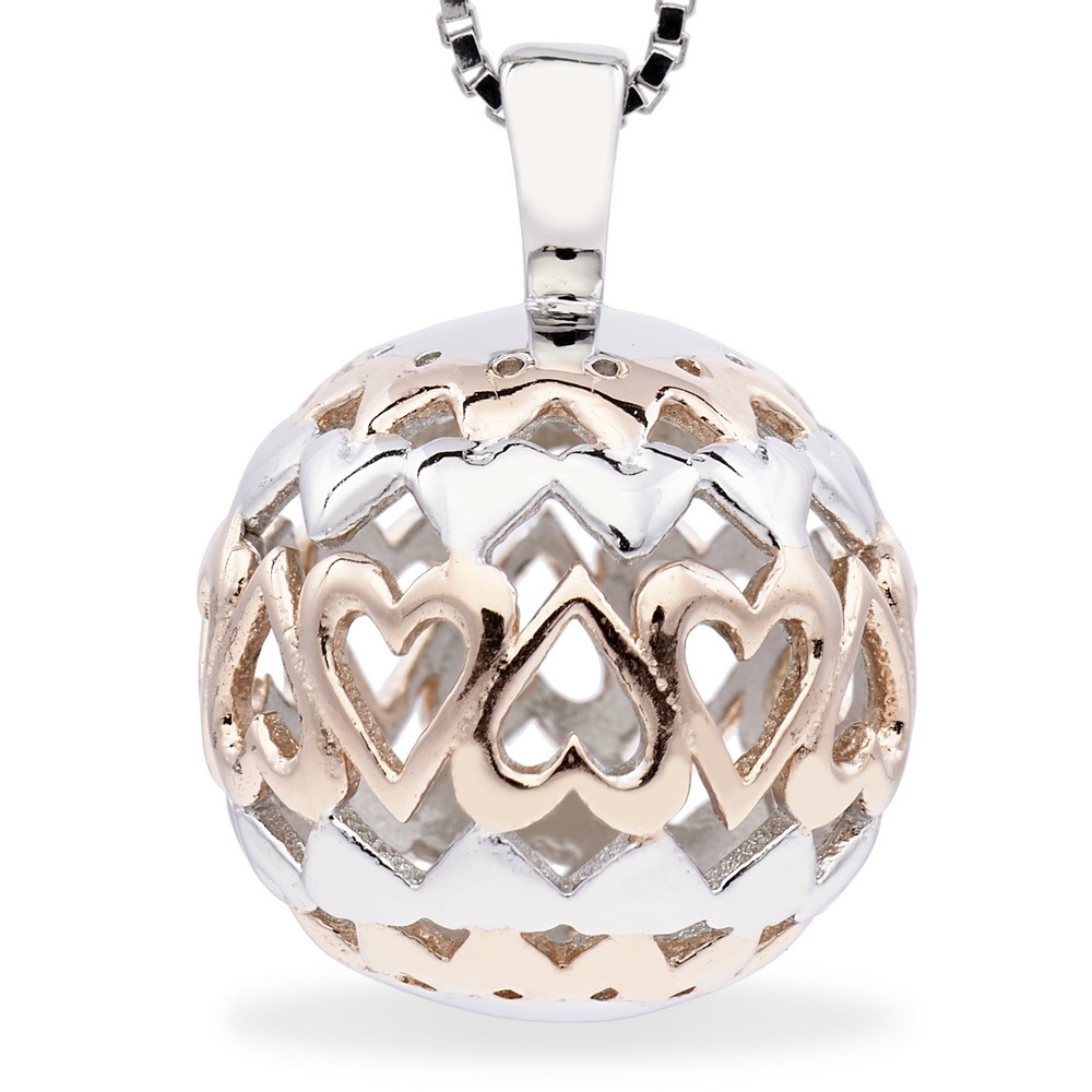 68446 - Sphere of Life 'Forever' Pendant in Sterling Silver with Rose Gold plated detail