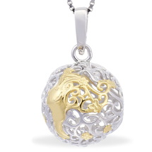 68448 - Sphere of Life 'Butterfly Kisses' Pendant in Sterling Silver