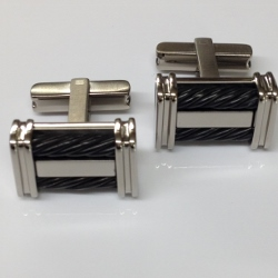 68469 - Titanium Cufflinks with Ion Plating