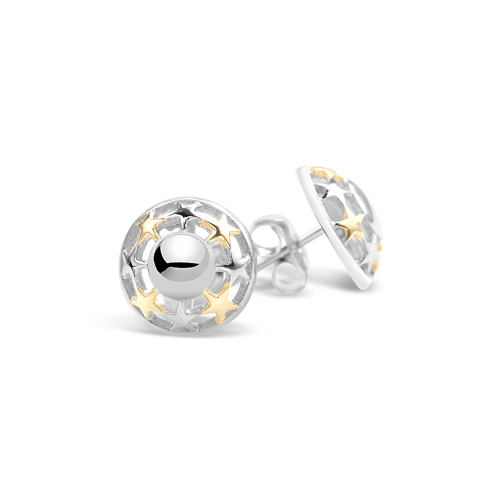 68506 - Sphere of Life 'My Shining Star' Stud Earrings in Sterling Silver