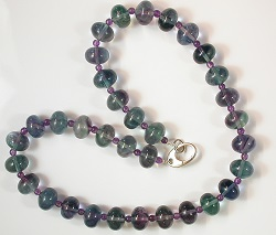 68580 - Fluorite & Amethyst Necklace