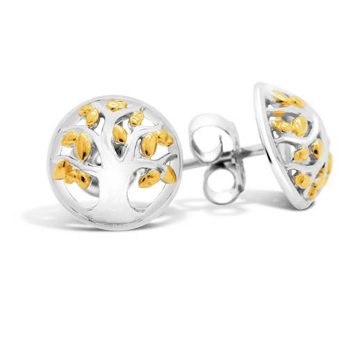 68679 - Sphere of Life 'Family Tree' Stud Earrings in Sterling Silver