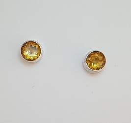 68705 - Handmade Citrine set  Stud Earrings