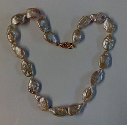 68732 - Naturally coloured Baroque Pearl Necklace