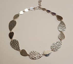 68879 - Handmade sterling silver Paisley necklace