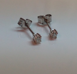 68887 - Exceptionally Bright 0.22ct Diamond Earrings set in 18ct white Gold