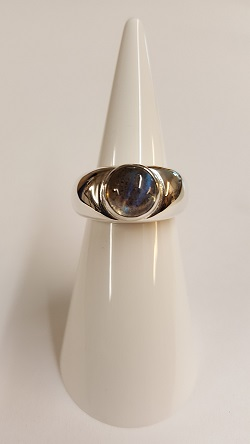 68890 - Hand Crafted Ring in Sterling Silver features Labradorite