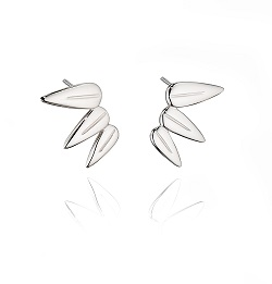 69000 - Fiorelli Triple Leaf Stud Earrings in Sterling Silver