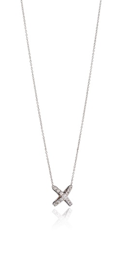 69008 - Fiorelli CZ Cross pendant in Sterling Silver