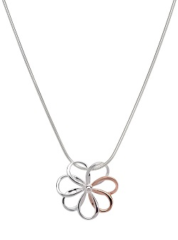 69037 - Flower pendant in Sterling Silver