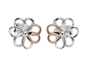 69038 - Flower Stud Earrings in Sterling Silver