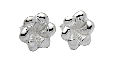 69040 - Flower Stud Earrings in Sterling Silver