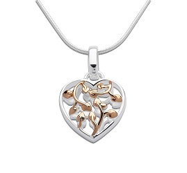 69041 - Heart Tree of Life Pendant in Sterling Silver