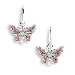 69048 - Diamond set Butterfly Drop Earrings