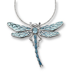 69050 - Gemset Dragonfly pendant in Sterling Silver