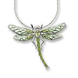69051 - Gemset Dragonfly pendant in Sterling Silver