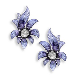 69060 - Silver Floral Stud Earrings