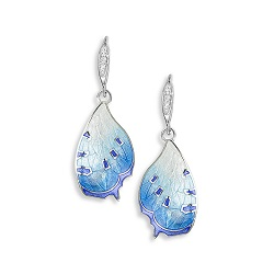 69067 - Sapphire set Butterfly Drop Earrings