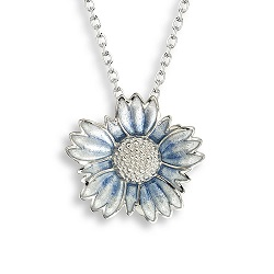 69069 - Silver Tidytip Pendant with Blue Enamel