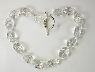 69145 - Rock Crystal necklace with silver T-Bar Clasp